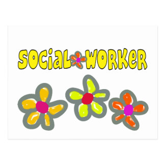 Regalos del asistente social tarjeta postal
