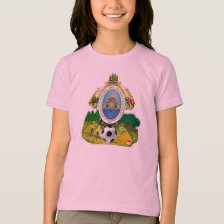 Regalos del balón de fútbol del escudo de armas camiseta