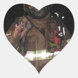 Regalos del bombero colcomanias de corazon personalizadas