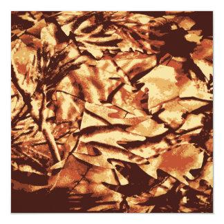 Regalos del camuflaje de Brown Camo para los Invitación 13,3 Cm X 13,3cm