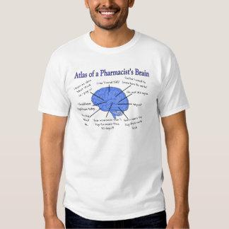 Regalos del cerebro del farmacéutico divertido camisetas