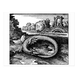 Regalos del dragón de Ouroboros - postal