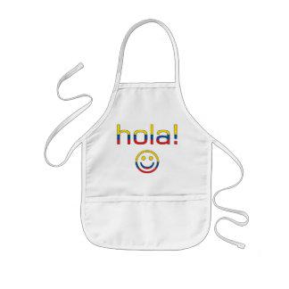 Regalos del Ecuadorian: Hola/Hola + Cara sonriente Delantal