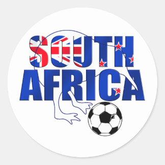 Regalos del fútbol de Suráfrica de la bandera de N Etiqueta