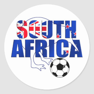 Regalos del fútbol de Suráfrica de la bandera de Etiqueta Redonda