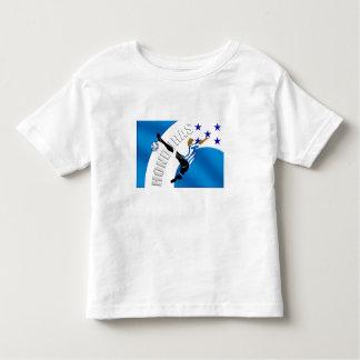 Regalos del fútbol del fútbol del retroceso del camiseta de bebé