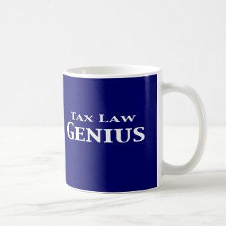 Regalos del genio de la legislación fiscal taza de café
