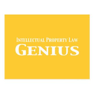 Regalos del genio de la ley de la propiedad postal