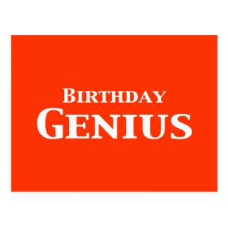 Regalos del genio del cumpleaños postal