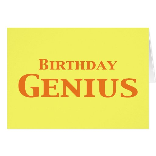 Regalos del genio del cumpleaños felicitación