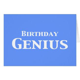 Regalos del genio del cumpleaños tarjeta de felicitación