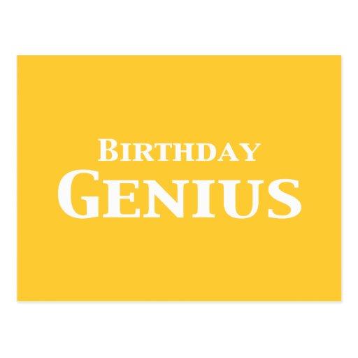 Regalos del genio del cumpleaños tarjetas postales