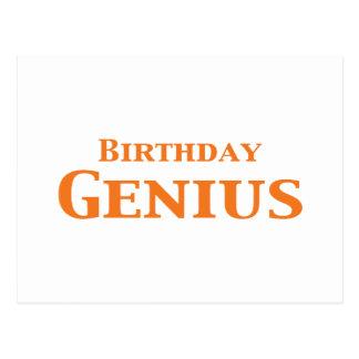 Regalos del genio del cumpleaños postales