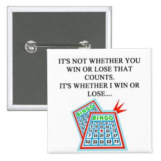 regalos del jugador del bingo chapa cuadrada