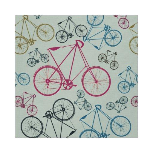 Regalos del modelo de la bicicleta del vintage par lona envuelta para galerias