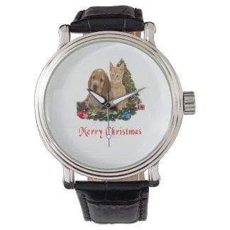 Regalos del navidad de los animales reloj