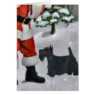 Regalos del navidad de Terrier del escocés Tarjeta De Felicitación