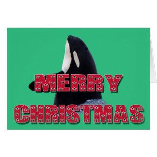 Regalos del navidad del salto del espía de la tarjeta