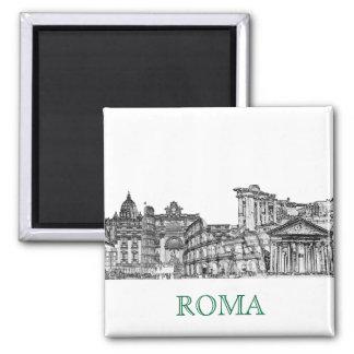 Regalos del recuerdo del viaje de Roma, Roma… Imán Cuadrado