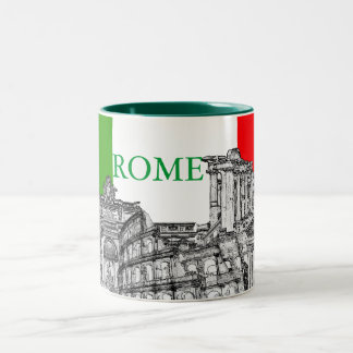 Regalos del recuerdo del viaje de Roma, Roma… Taza De Dos Tonos