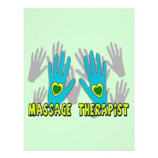 Regalos del terapeuta del masaje tarjetón