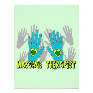 Regalos del terapeuta del masaje folleto 21,6 x 28 cm