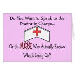 Regalos divertidos de la enfermera tarjetas