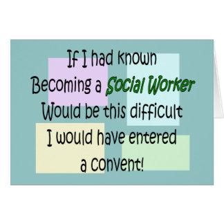 Regalos divertidos del asistente social tarjeta de felicitación