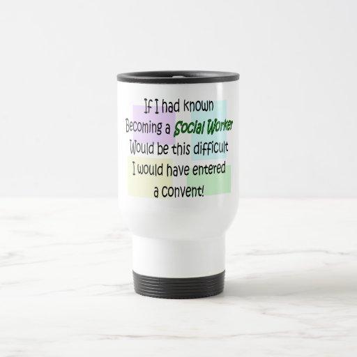 Regalos divertidos del asistente social taza de café