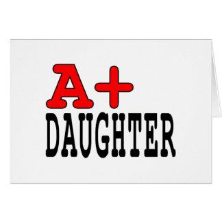 Regalos divertidos para las hijas: A+ Hija Tarjeta De Felicitación