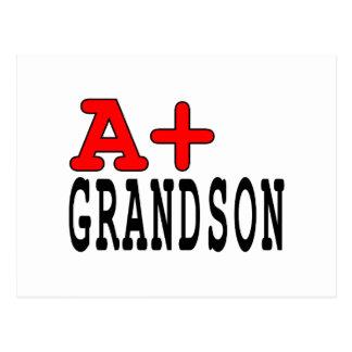 Regalos divertidos para los nietos: A+ Nieto Tarjetas Postales