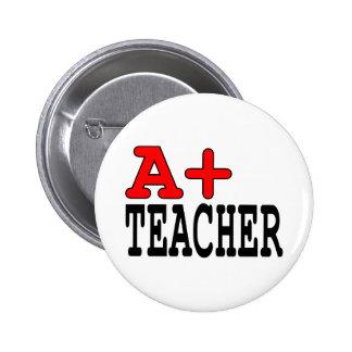 Regalos divertidos para los profesores: A+ Profeso Chapa Redonda De 5 Cm