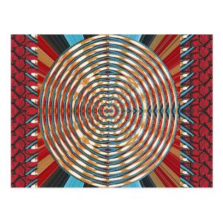 REGALOS elegantes de la moda de los círculos redon Postales