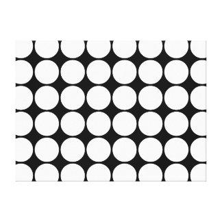 Regalos elegantes para los chicas: Lunares blancos Impresión En Lienzo Estirada