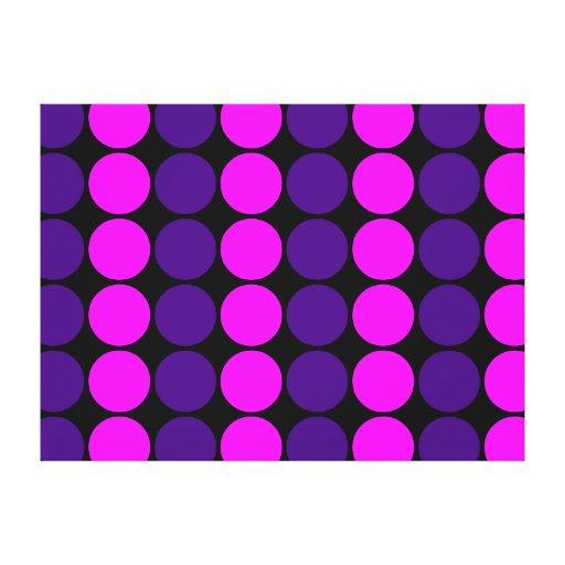 Regalos elegantes para los chicas: Lunares rosados Impresión De Lienzo