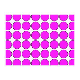Regalos elegantes para los chicas: Lunares rosados Impresiones En Lona