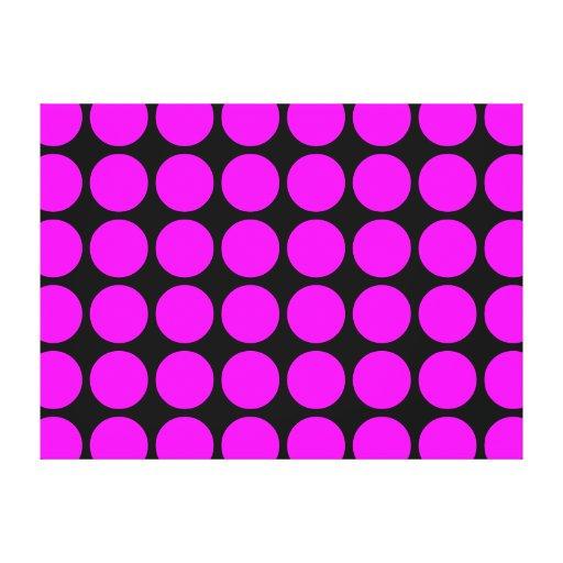 Regalos elegantes para los chicas: Lunares rosados Impresiones De Lienzo