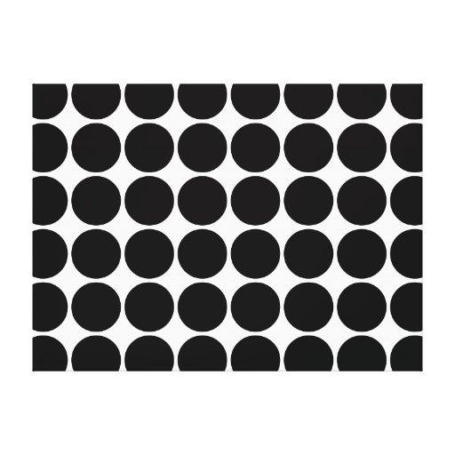 Regalos elegantes para los lunares negros de los c impresiones en lona