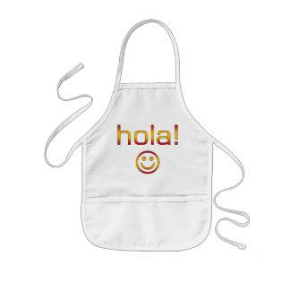 Regalos españoles: Hola/Hola + Cara sonriente Delantales