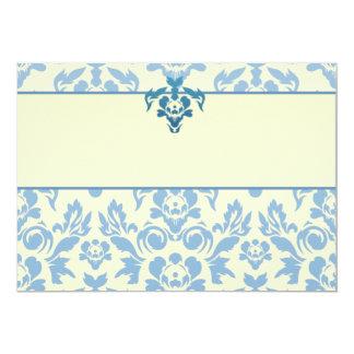 Regalos especiales florales azules elegantes invitación 12,7 x 17,8 cm