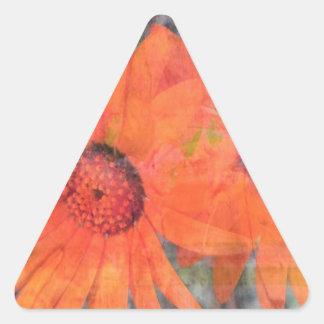 Regalos florales pegatina triangular