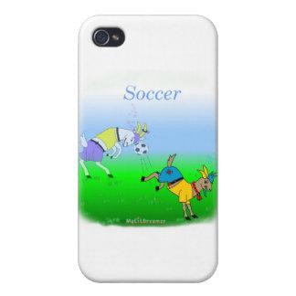 Regalos frescos del fútbol para los niños iPhone 4 fundas