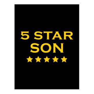 Regalos frescos divertidos: Hijo de cinco estrella Postales