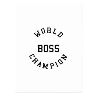 Regalos frescos retros para los jefes: Campeón Postal