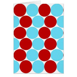 Regalos grandes rojos del modelo de lunares de la tarjeta de felicitación