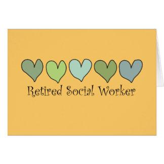 Regalos jubilados del asistente social tarjeta de felicitación