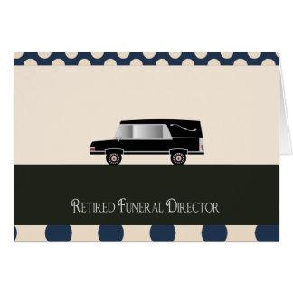 Regalos jubilados del director de funeraria tarjetón