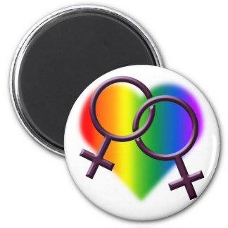 Regalos lesbianos del mismo sexo del amor de los i imán de nevera