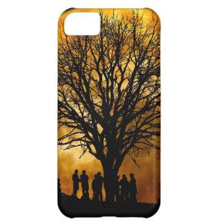 Regalos llenos frescos de la silueta del árbol de funda para iPhone 5C