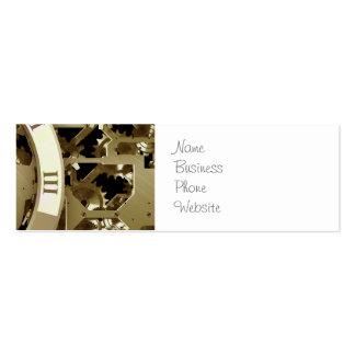 Regalos mecánicos de Steampunk de los relojes y de Plantillas De Tarjetas De Visita